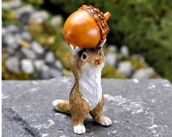 Chipmunk With Acorn