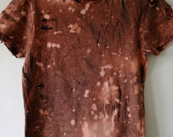 Bleached and Ripped Yeezy Style Shirt