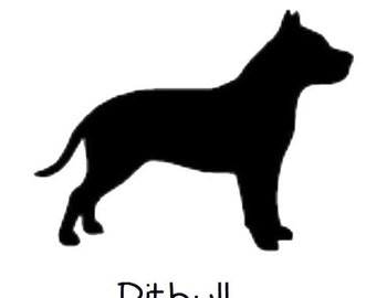 DIY Pitbull Dog Vinyl Decal, Pitbull Owner, Laptop Decal, IPad Decal, Cell Phone Decal, Car Window Decal, Drinkware, Coffee Cup