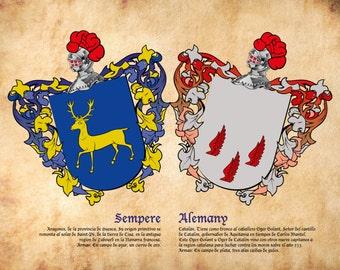 Surname Heraldic Shield