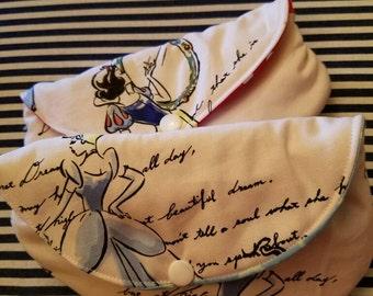 Disney Princess Script Glasses Cases Sunglasses cases small clutch, classic disney Cinderella, Snow white, Belle gift, disneybound