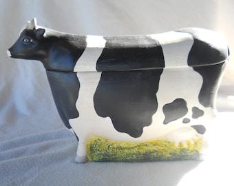 Warren Kimble Holstein Cow Cookie Jar