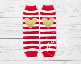 Baby Legwarmers, Red White Legwarmers, Christmas Legwarmers, Kids Striped Legwarmers, Red Legwarmer, Birthday Outfit