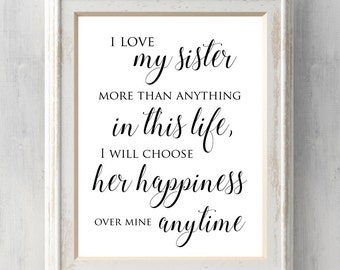 Love My Sister Quotes Interesting I Love My Sister  Etsy