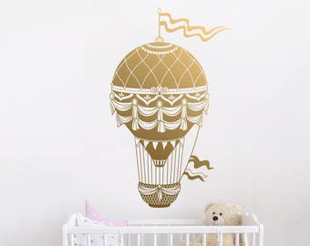 Hot Air Balloon Wall Decal   Hot Air Balloon Wall Decor, Balloon Wall Decal,