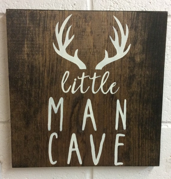 Little Man Cave Signs : Little man cave wood sign nursery decor baby shower gift