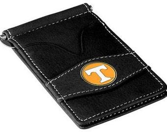 Tennessee Volunteers Black Leather Wallet Card Holder