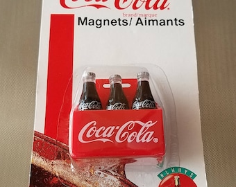 Vintage Coca Cola 6 Pack Refrigerator Magnet 1995 collectible New in Package