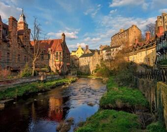 Dean Village at Sunset, Edinburgh (Digital Download)