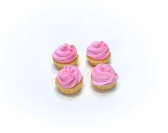 4 Pink cupcakes, Bin #B-5A