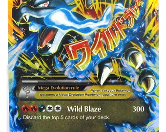Handmade Pokemon Card Charizard Mega EX 108/106 Best for Trading Card Game