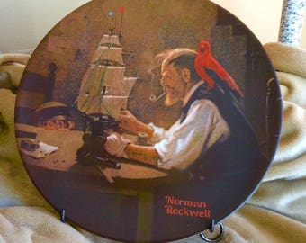 Vintage Collectible Plate The Ship Builder Norman Rockwell