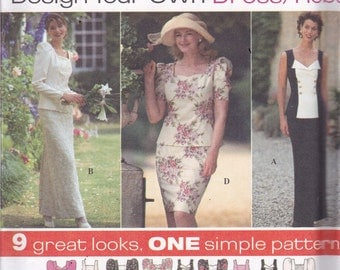 Simplicity 9870 Vintage Pattern Womens 2 Piece Semi Fitted Dress in 9 Variations  Size 18,20,22 UNCUT