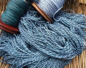 Handspun Merino, Silk and Bamboo Yarn for Knitting, Crochet and Crafts