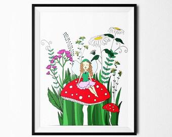 Fairy Print- Printable Art