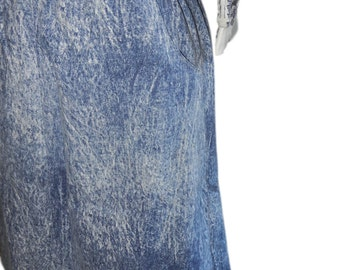 Vintage Acid Wash Cotton Skirt - Size M/L