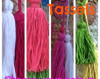 TASSELS Choose your Colour, for my Baskets ONLY. NOT sold separatly.
