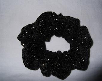 Sparkly Black Hair Scrunchie