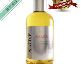 Golden Jojoba Oil High Quality Pure Organic Cold Pressed Unrefined Rare Oil All Natural by Native.