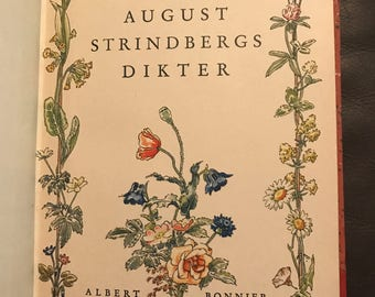 August Strindberg's Dikter (book of poetry) 1941, in beautiful condition!