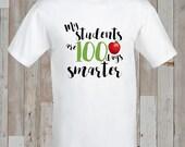 Instant Download - TEACHER SPECIAL 100 Days of School Iron-On Transfer design for kids/school/classroom/teacher - Printable