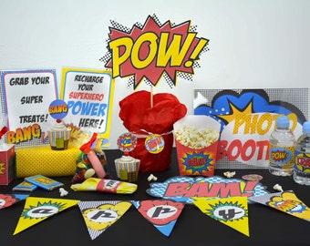 superhero kit printable sweet table superhero party kit