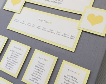 Plain & Simple | Love Heart | Wedding Table/Seating Plan Canvas