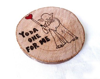 Yoda One For Me Coaster, Star Wars Gift, Valentines Day Gift, Yoda One For me, Yoda Gift, Star Wars Coasters, Gift For Him, Star Wars, Yoda