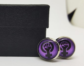 "Shop ""feminist jewelry"" in Cuff Links & Tie Clips"