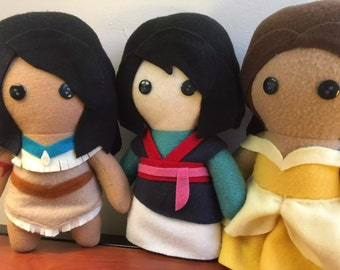 Disney Princess Fleece Plush Doll