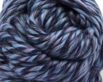 "100% Merino Wool Heavy Bulky Weight Single-Ply Yarn/Pencil Roving ""Moonlight"""