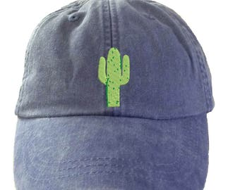CACTUS Hat.   Baseball Hat. Cool Mesh Lining & Adjustable Strap. 33 Colors Avail. HER-LP101