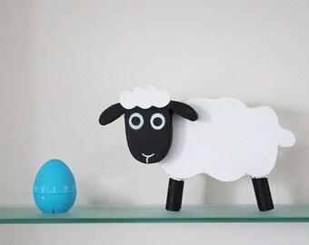 Metal sheep sculpture - Handmade animal sculpture made from steel