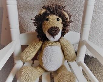 Lenny the LION, PARLOR PALS, baby gift, crochet animal, stuffed animal
