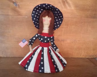 Primitive Patriotic Southern Bell Doll