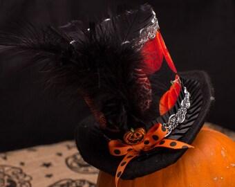 Halloween Pumpkin Mini Hat