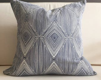 Pillow Cover, Navy Blue Modern Pillow Cover, EVERETT