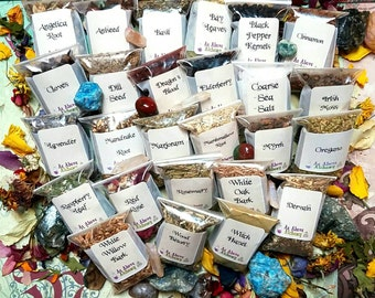 DIY Protection Set of Herbs  - DIY Incense, Potion, Spell - Herbs & Resins - You Choose Number - Witchcraft Supplies