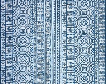 Items similar to Fabric Shower curtain P Kaufmann Tahla Blueberry ...
