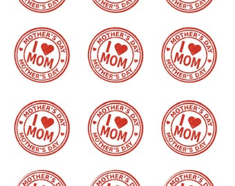 Avery 22807 etsy mothers day brunch stickers i heart mom cupcake toppers avery 22807 template diy pronofoot35fo Images