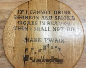 Mark Twain Bourbon Barrel Head