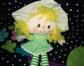 Mint Tulip vintage rag style doll from Strawberry Shortcake