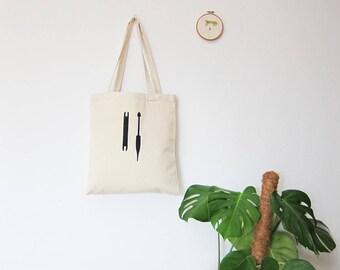 Weaving tools organic tote bag / market bag / shopping bag