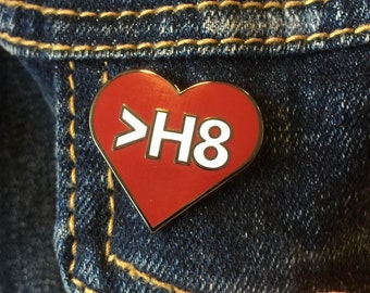 Love Greater Than Hate Enamel Pin benefitting the Southern Poverty Law Center