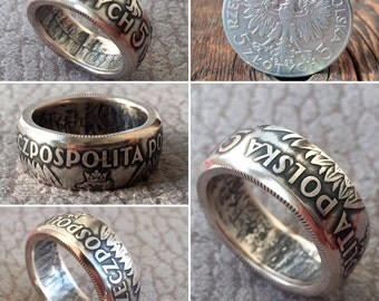 Silver Coin Ring Italy Italian 500 Lire Handmade Rings
