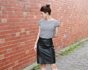 Soft leather skirt | Etsy