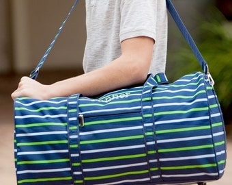 Boys Duffel Bag - Boys Travel Bag -  Personalized Duffel Bag - Monogram Weekender Bag - Personalized Overnight Bag - Groomsman Gift