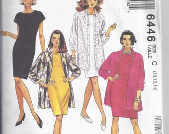 "McCall's 6446 Sewing pattern from 1993 Misses Shirt Jacket and Sheath Dress  Bust 32 1/2-36"" UNCUT"
