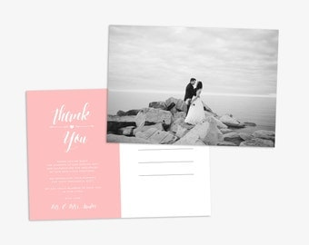 Wedding Thank You Postcard, Wedding Photo Postcard, Wedding Thank You