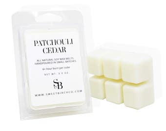 Patchouli Tarts - Patchouli Wax Melts - Cedar Candle Melts - Scented Soy Melts -  Patchouli Cedar Scent - Patchouli Gifts